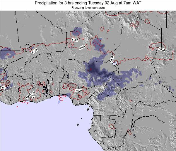 Nigeria Precipitation for 3 hrs ending Sunday 03 Aug at 7am WAT