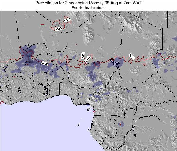 Nigeria Precipitation for 3 hrs ending Sunday 27 Jul at 7am WAT