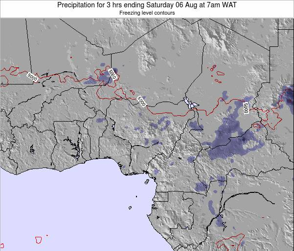 Chad Precipitation for 3 hrs ending Sunday 26 May at 1pm WAT map
