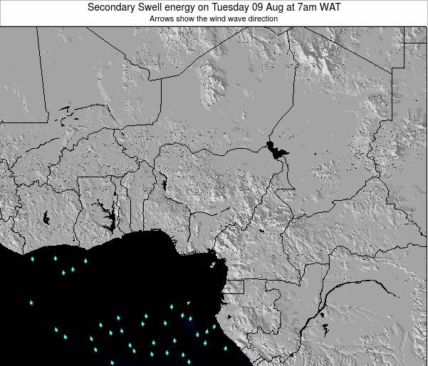 Nigeria Secondary Swell energy on Wednesday 12 Mar at 1am WAT