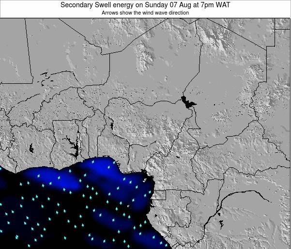Nigeria Secondary Swell energy on Saturday 25 Oct at 7am WAT