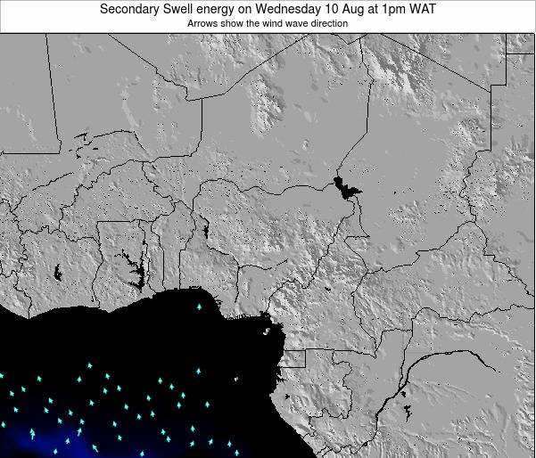 Nigeria Secondary Swell energy on Friday 25 Apr at 7am WAT