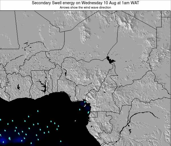 Nigeria Secondary Swell energy on Thursday 24 Jul at 7am WAT