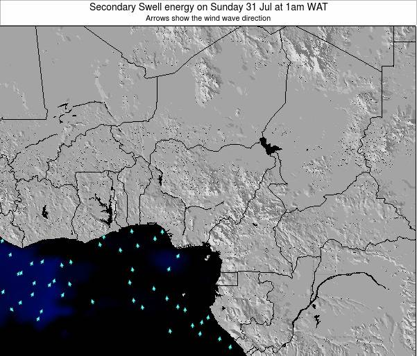Nigeria Secondary Swell energy on Thursday 05 Dec at 7am WAT