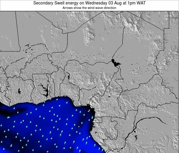Nigeria Secondary Swell energy on Saturday 28 Mar at 1am WAT