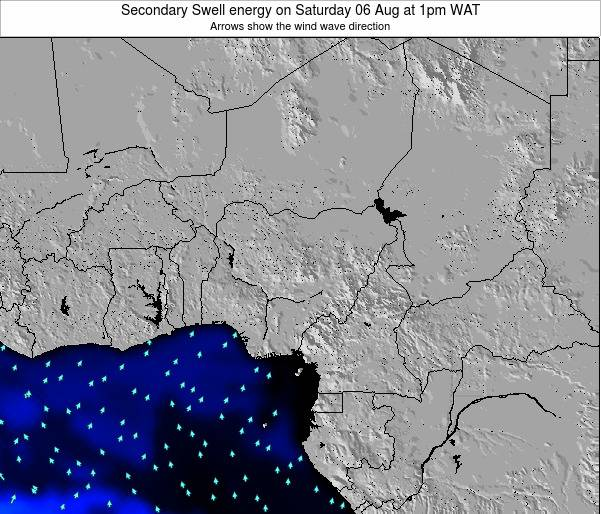 Nigeria Secondary Swell energy on Friday 21 Jun at 7am WAT