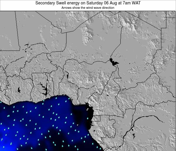 Nigeria Secondary Swell energy on Tuesday 11 Mar at 7am WAT