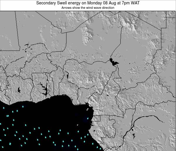 Nigeria Secondary Swell energy on Thursday 14 Dec at 7am WAT map