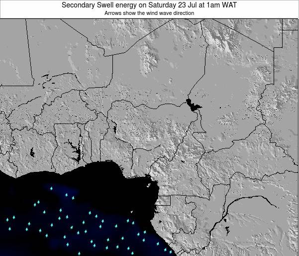 Niger Secondary Swell energy on Saturday 17 Aug at 7pm WAT map