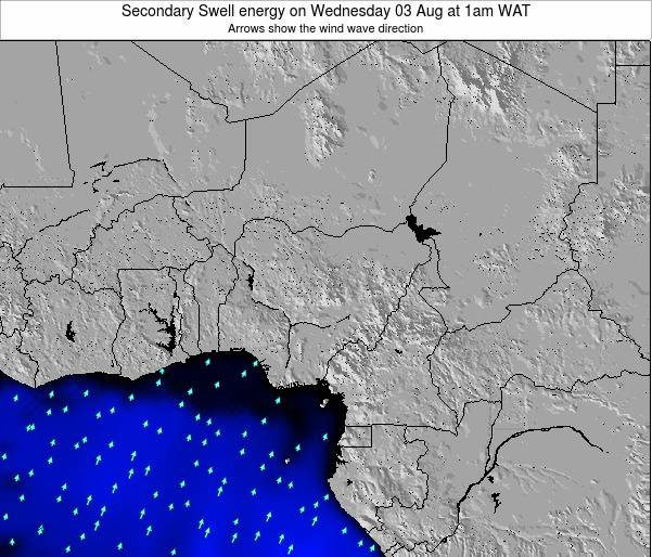 Nigeria Secondary Swell energy on Sunday 27 Apr at 7am WAT