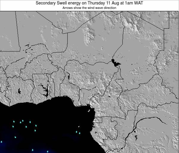 Nigeria Secondary Swell energy on Saturday 30 Jul at 7am WAT