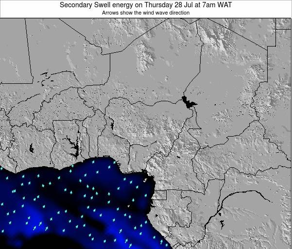 Nigeria Secondary Swell energy on Friday 14 Mar at 1am WAT