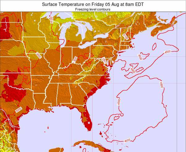 South-Carolina Surface Temperature on Sunday 19 May at 8pm EDT