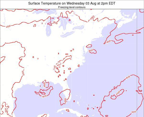 South-Carolina Surface Temperature on Sunday 09 Mar at 2pm EDT