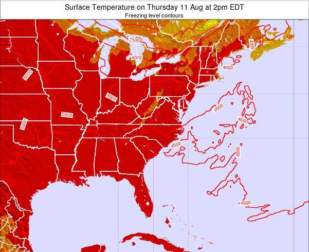 South-Carolina Surface Temperature on Sunday 26 May at 8pm EDT