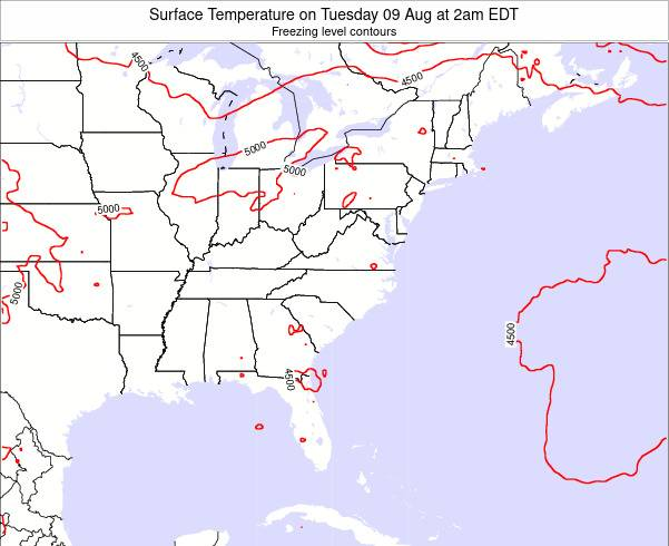 South-Carolina Surface Temperature on Sunday 19 May at 8am EDT