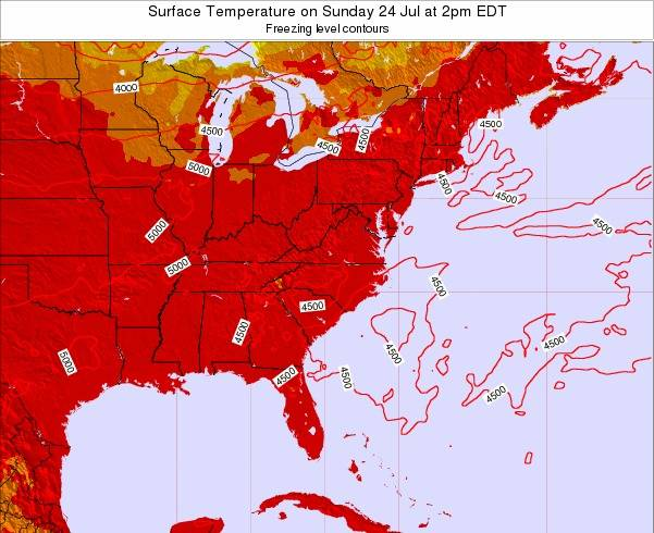 North-Carolina Surface Temperature on Sunday 26 May at 2am EDT
