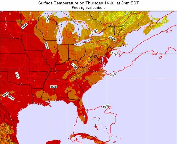 South-Carolina Surface Temperature on Thursday 03 Sep at 2pm EDT