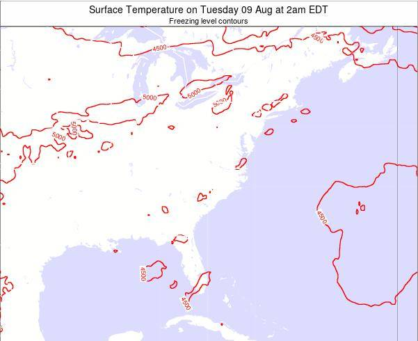 Virginia Surface Temperature on Friday 24 May at 2pm EDT map