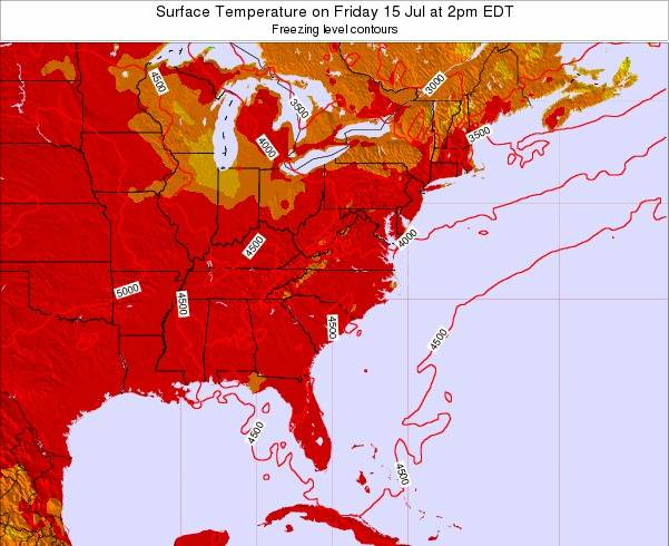 South-Carolina Surface Temperature on Sunday 26 May at 2pm EDT