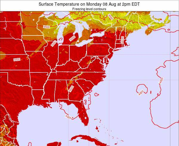 South-Carolina Surface Temperature on Tuesday 10 Dec at 1am EST