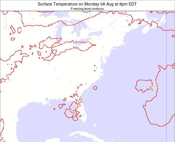 South-Carolina Surface Temperature on Tuesday 30 Aug at 2pm EDT