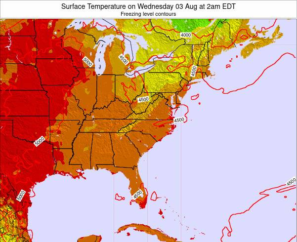 South-Carolina Surface Temperature on Thursday 13 Mar at 8am EDT