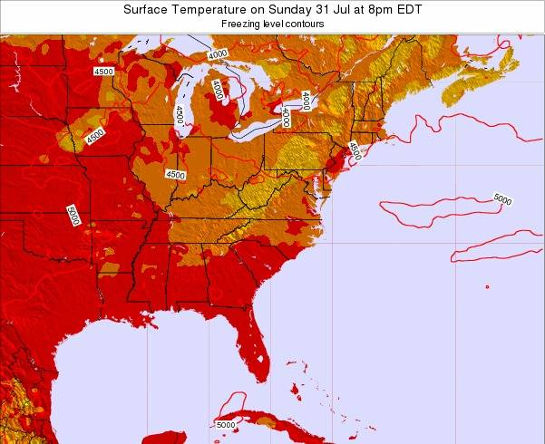 South-Carolina Surface Temperature on Thursday 30 Mar at 8pm EDT