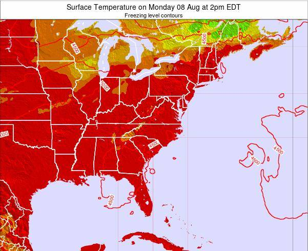 South-Carolina Surface Temperature on Friday 24 May at 2am EDT