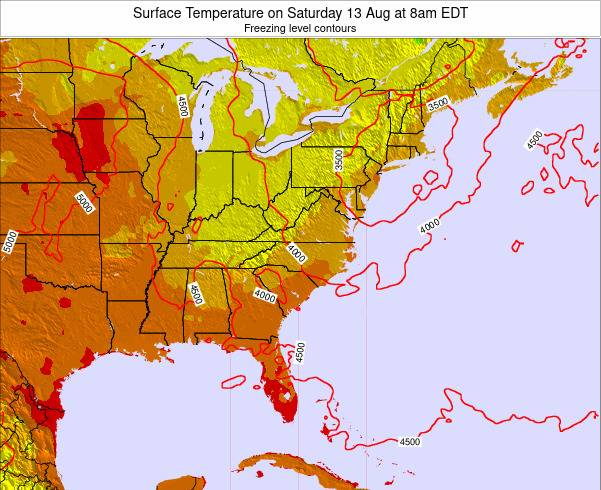 South-Carolina Surface Temperature on Sunday 26 May at 8am EDT