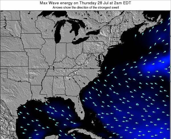 Virginia Max Wave energy on Saturday 01 Jun at 2pm EDT