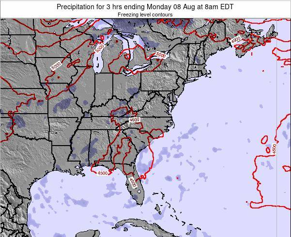 North-Carolina Precipitation for 3 hrs ending Sunday 26 May at 8am EDT map