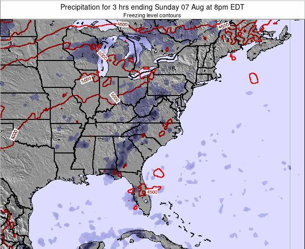 North-Carolina Precipitation for 3 hrs ending Wednesday 29 May at 2pm EDT map