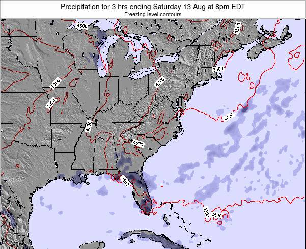 North-Carolina Precipitation for 3 hrs ending Thursday 23 May at 2pm EDT map