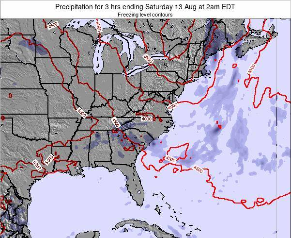 North-Carolina Precipitation for 3 hrs ending Tuesday 28 May at 2am EDT