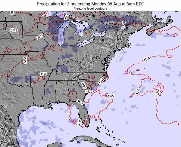 North-Carolina Precipitation for 3 hrs ending Thursday 23 May at 8pm EDT map