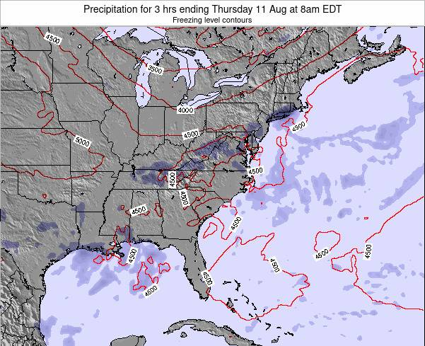 North-Carolina Precipitation for 3 hrs ending Saturday 26 Apr at 2am EDT