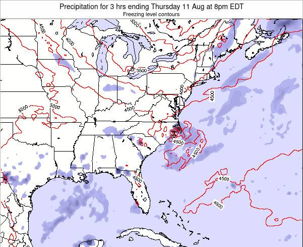 South-Carolina Precipitation for 3 hrs ending Saturday 25 May at 2pm EDT