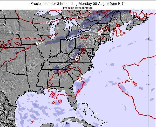 South-Carolina Precipitation for 3 hrs ending Thursday 24 Apr at 8am EDT