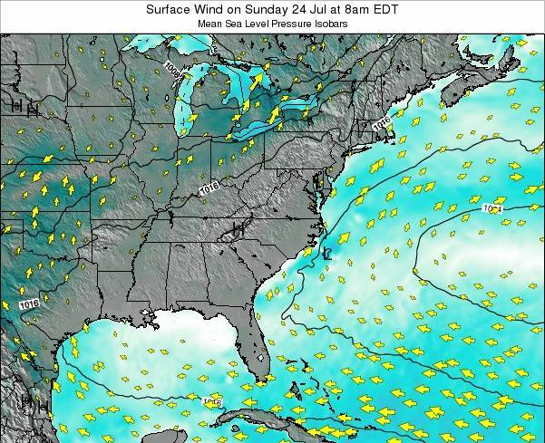 North-Carolina Surface Wind on Friday 30 Sep at 8pm EDT