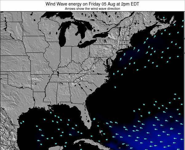 South-Carolina Wind Wave energy on Thursday 23 May at 8am EDT