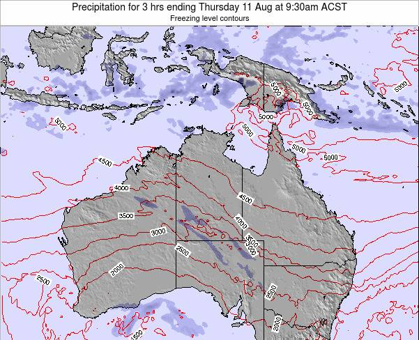 Northern-Territory Precipitation for 3 hrs ending Tuesday 28 May at 9:30pm CST map