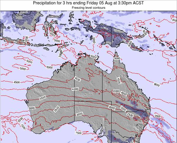 Northern-Territory Precipitation for 3 hrs ending Monday 20 May at 9:30am CST map