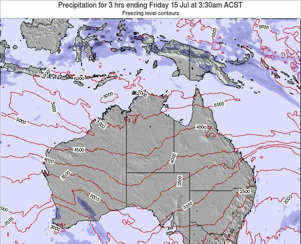 Northern-Territory Precipitation for 3 hrs ending Thursday 23 May at 3:30am CST map
