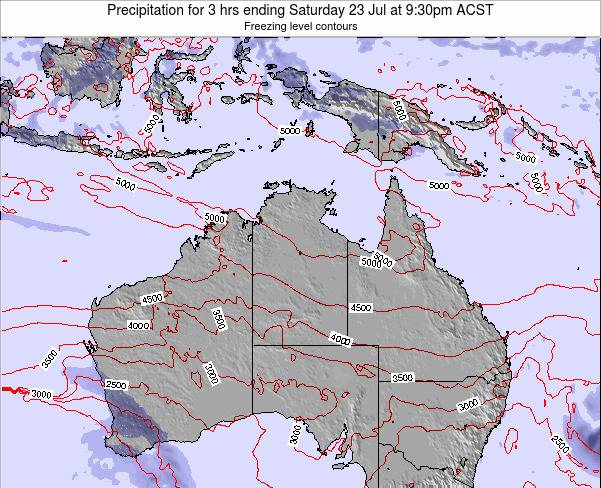 Northern-Territory Precipitation for 3 hrs ending Wednesday 22 May at 3:30am CST map