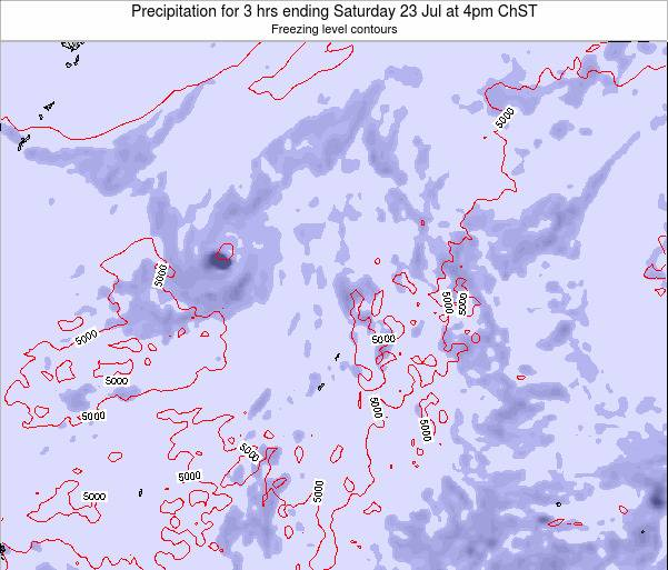 Northern Mariana Islands Precipitation for 3 hrs ending Thursday 23 May at 4pm ChST map
