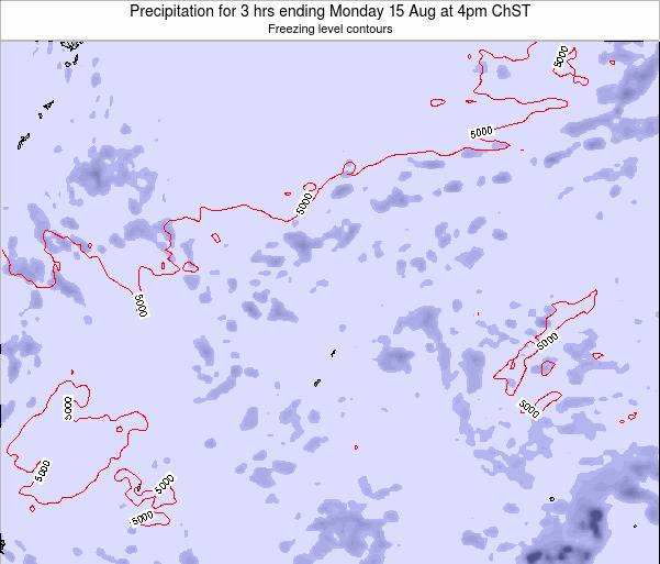 Northern Mariana Islands Precipitation for 3 hrs ending Saturday 25 May at 4pm ChST map