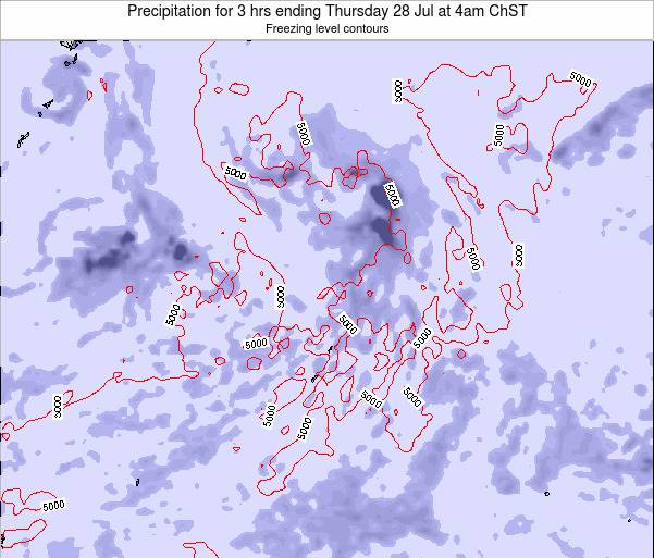 Northern Mariana Islands Precipitation for 3 hrs ending Monday 27 May at 10am ChST map