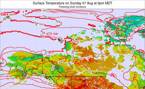 Northwest-Territories Surface Temperature on Monday 20 May at 6am MDT map