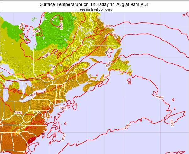 New-Brunswick Surface Temperature on Sunday 26 May at 9am ADT map